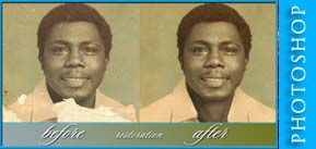 before and after photo restoration by S.Faíson